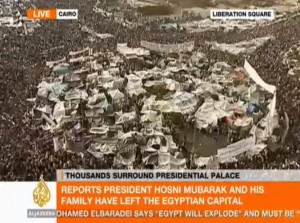 Thousands Surround Presidential Palace