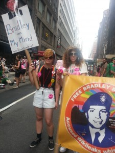 Marching for Bradley at NYC Pride June 30, 2013