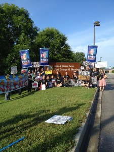 Protesting for Bradley Manning at his trial