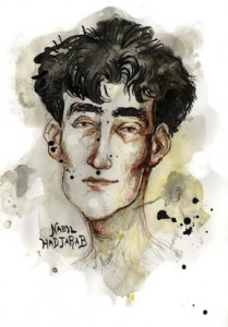 Nabil Hadjarab, by Molly Crabapple 2013 at Guantanamo