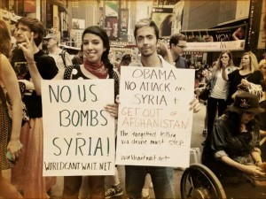 Protesting a US Attack on Syria, NYC